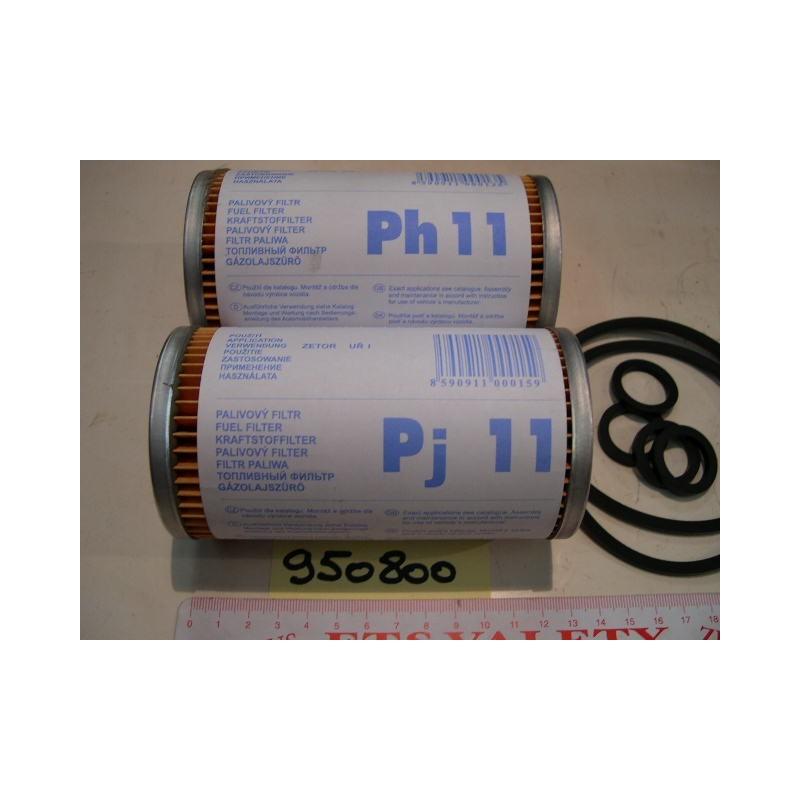Filtre à carburant ZETOR G1 et G2 6 cyl 2 filtres