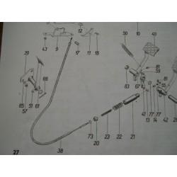 Cable frein à main ZETOR 4712/18-4911-5718/48-6718/48