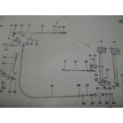 Cable frein à main ZETOR 5711/6745 - 5911/6945
