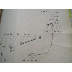 Cable frein à main ZETOR G12/G13
