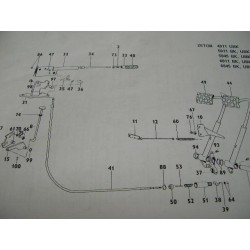 Cable frein à main ZETOR G9 avec cabine